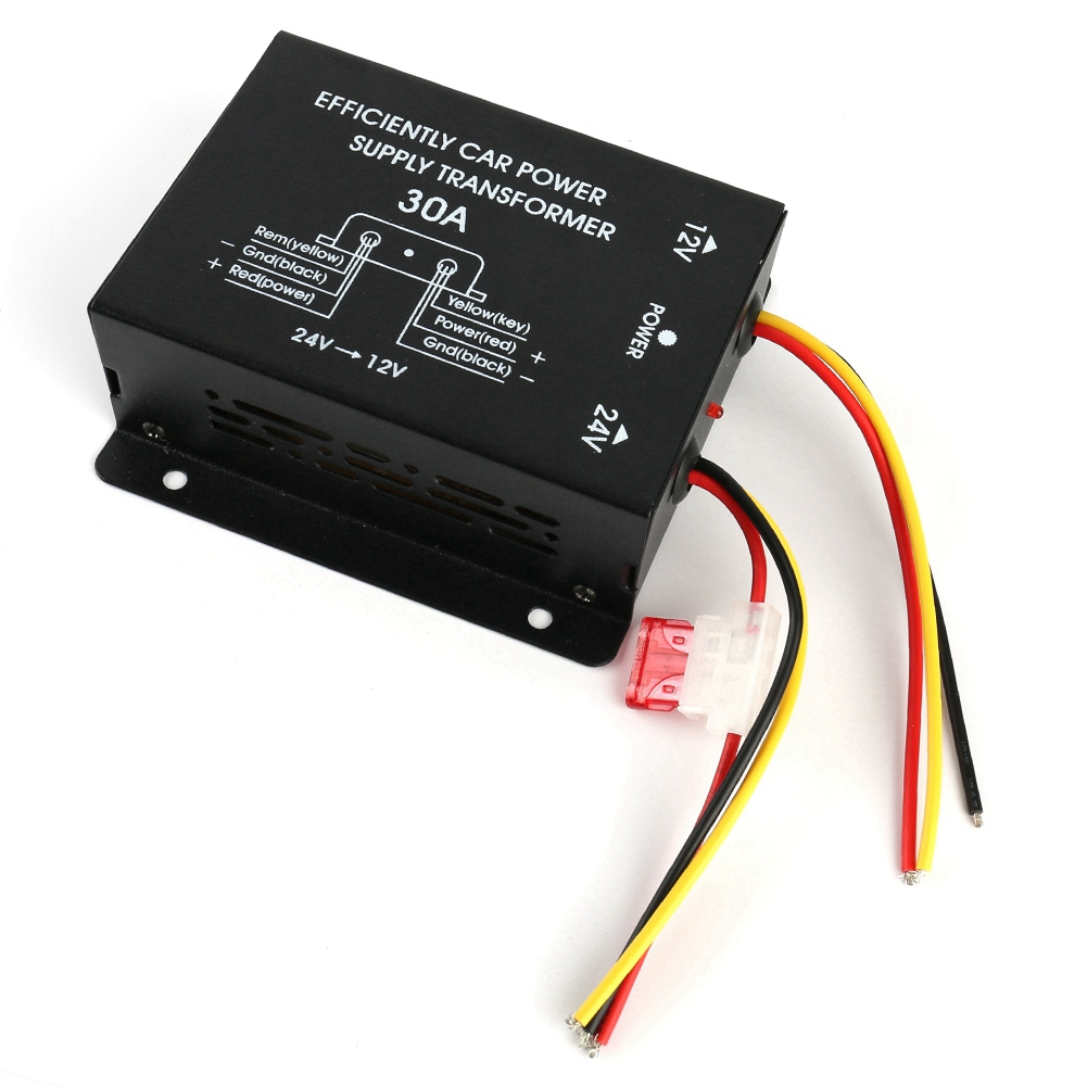 Alimentatore step-up da 12V a 24V 5A Convertitore di tensione boost da CC a CC Stabile ad alta precisione per lelettronica dello schermo LED dellauto