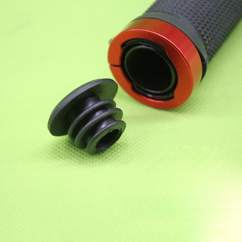 10Pcs Bicycle Handlebar Bar End Plugs Caps Road Bike MTB Rubber Black 22mm