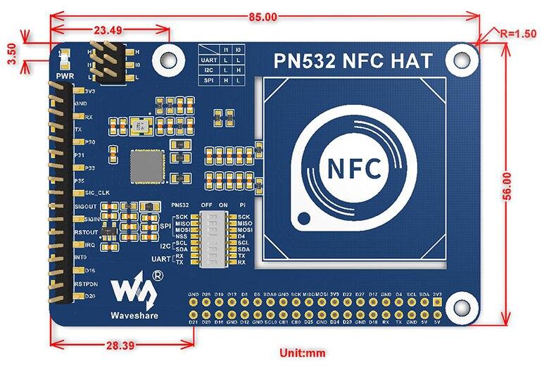 PN532-NFC-HAT-size