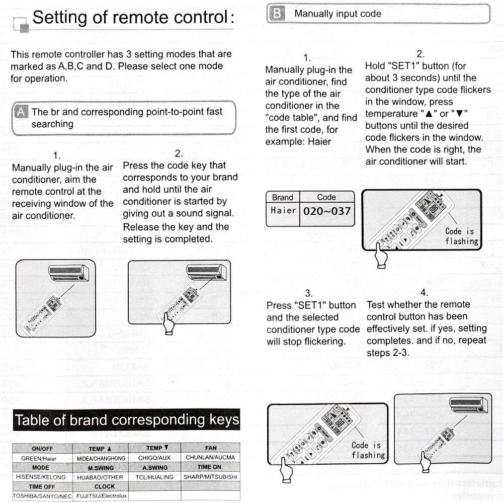 haier aircon manual on