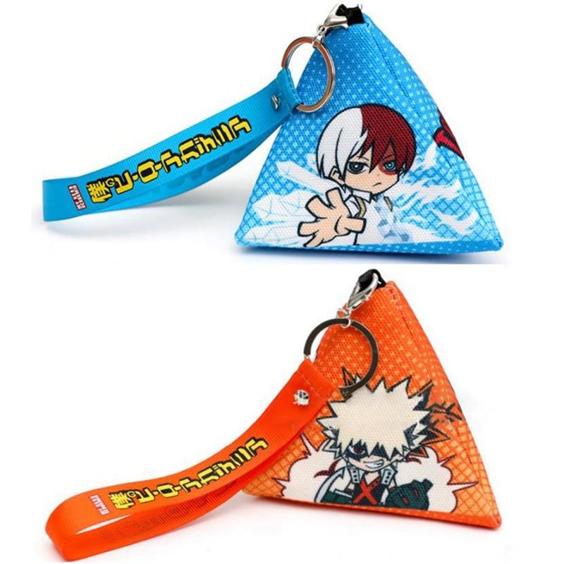 My Hero Academia Wallet TriangleMidoriya Izuku Bifold Card Holders Coin Purse Anime Gift
