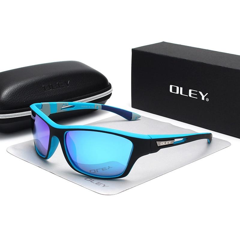 Мужские поляризационные очки OLEY, черные солнцезащитные очки для вождения, занятий спортом на открытом воздухе, индивидуальный логотип, YG202, 2019