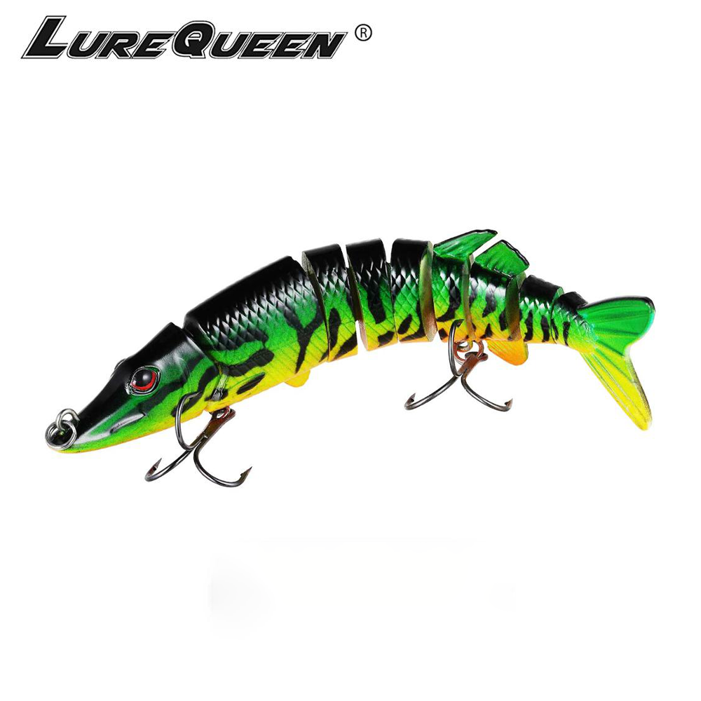 Bionic Swimming lure Topwater Bass Lures Artificial sunfish-green