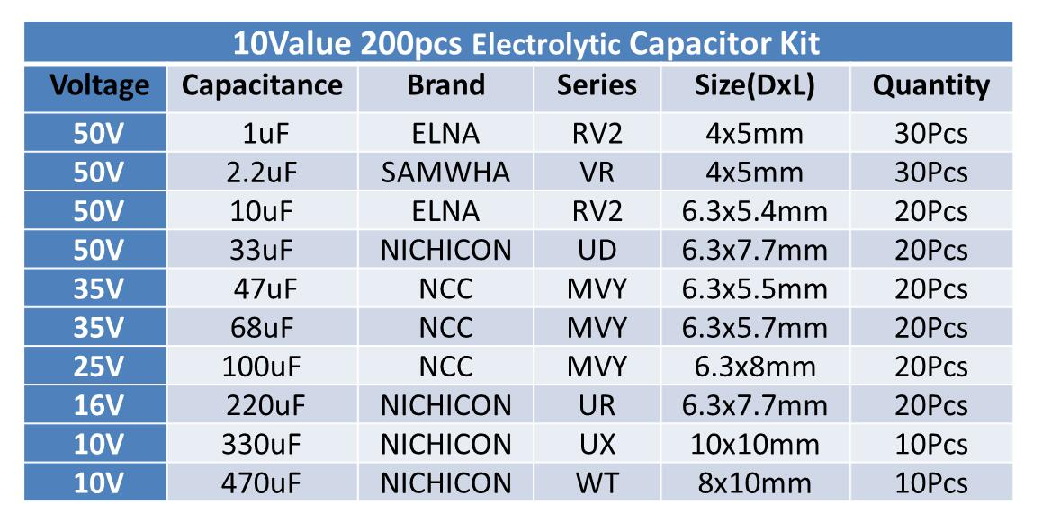 4.7uf 50v CAP   10 PCS    GREAT QUALITY  BRANDS  MAY VARY
