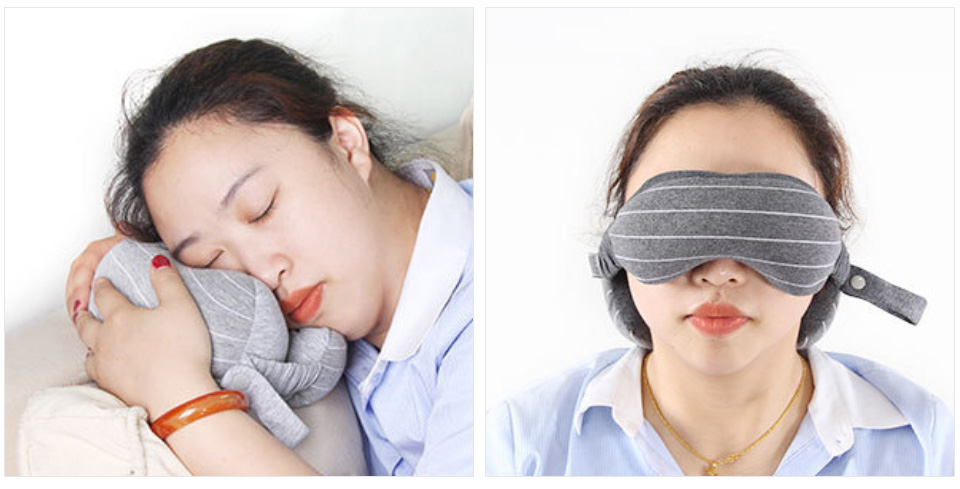 Multifunction Business Travel Neck Pillow Foam U Shaped Travel Pillow Neck Support For Airplane Cushion Cervical Pillow&Eye Mask (12)