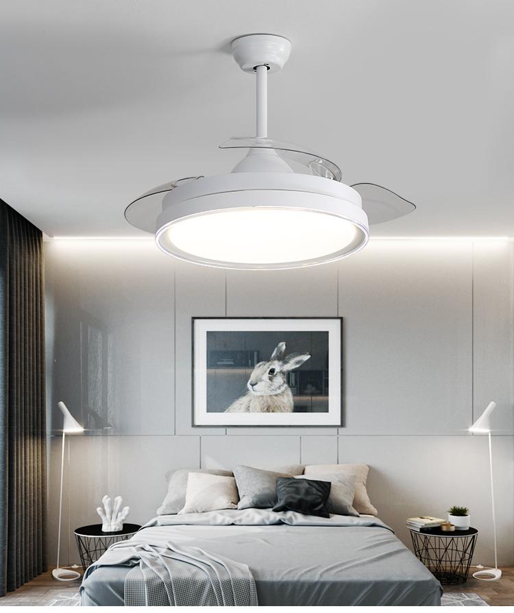 Motor silencioso Jintaihua Ventilador de Techo Moderno de 42con luz LED aspas retr/áctiles remotas para Sala de Estar