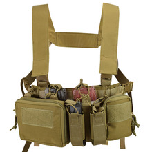 Tactical Vest Front-Magazine-Pouch Chest-Rig Paintball Military Hunting Holster Combat