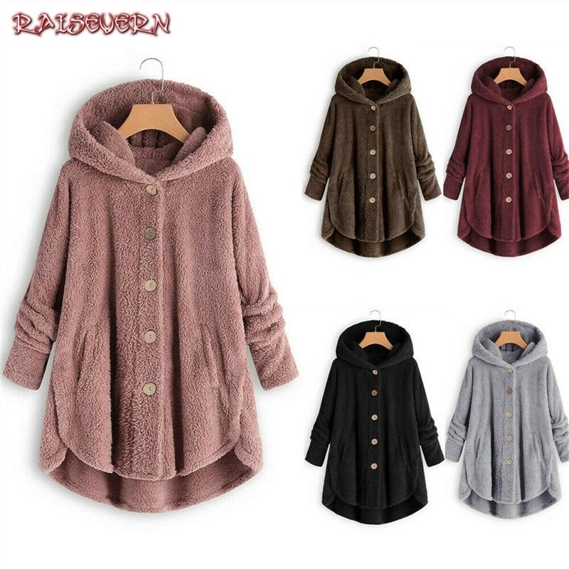Women Hoodies Plus Size Faux Fur Coats Furry Long Female Hooded Fluffy Coat Faux Fur Coat Jacket Cozy Fluffy Jackets Coats 5XL