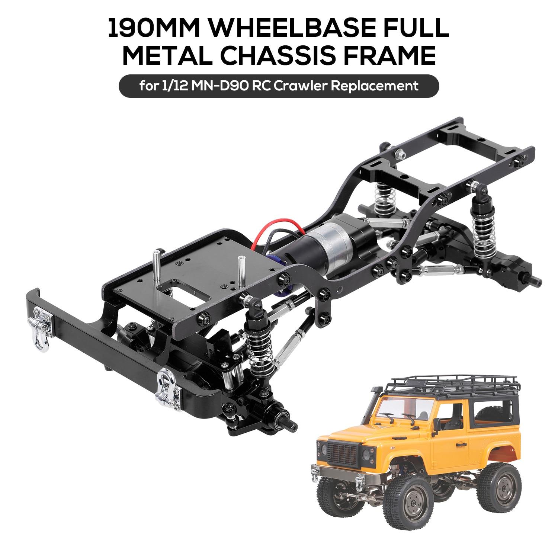 GFCGFGDRG Di Ricambio per SCX10 D90 1//10 Caso di trasferimento del Metallo di Caso di Cambio RC Caso Metal Transfer Crawler Auto con Il Monte