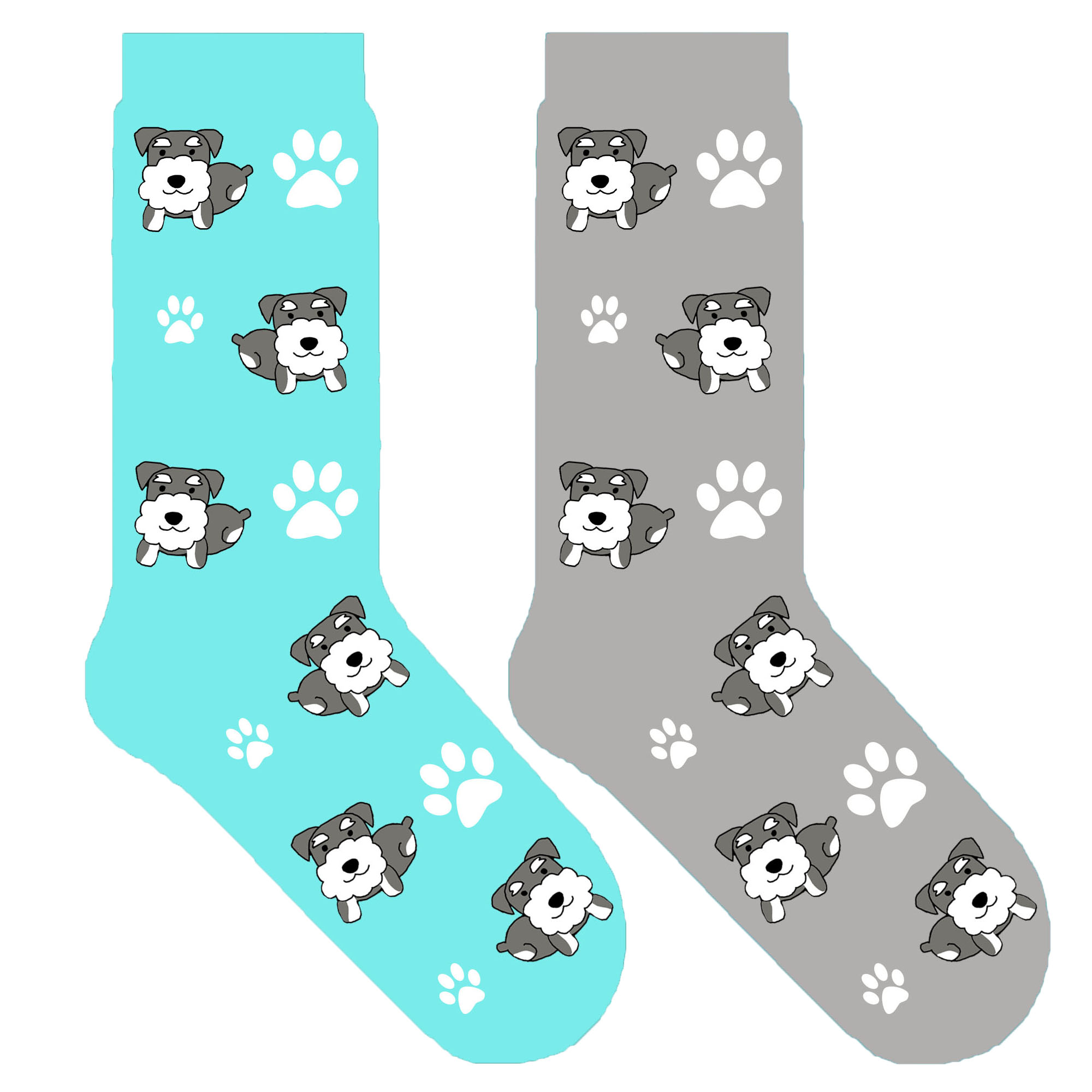 Border Collie Dog Bones Paws Pattern Men-Women Adult Ankle Socks