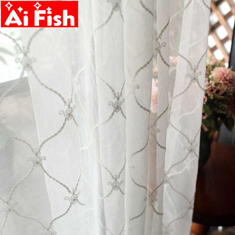 New Designed White Diamond Window Treatments Yarn Pink Blind Curtain for Living Room Blue Plaid Bedroom Tulle Curtains DF109-30