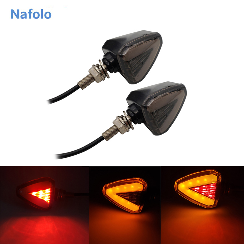 Dual Color Front Lights Motorcycle LED Strips Turn Signal Indicator Shockproof