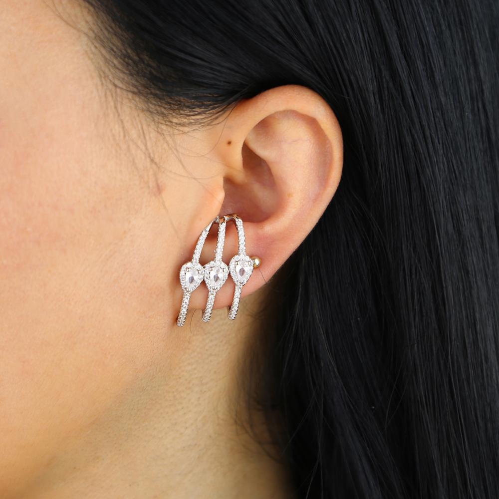 brass cz earring Y (8)