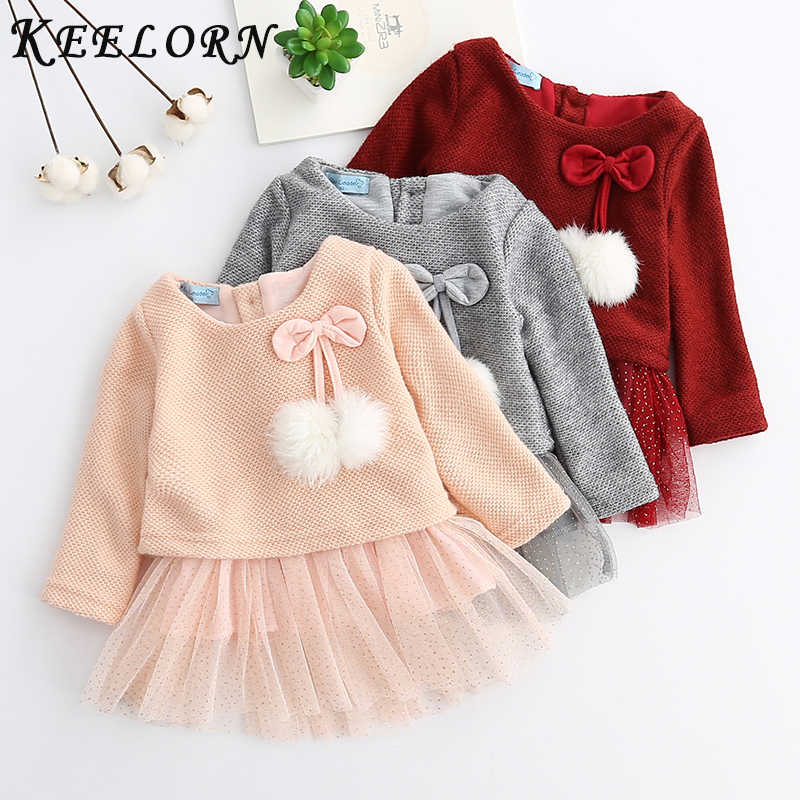 SO-buts Fashion Rainbow Colorful Girls Dress Kid Long Sleeve Casual Dress Winter Clothes