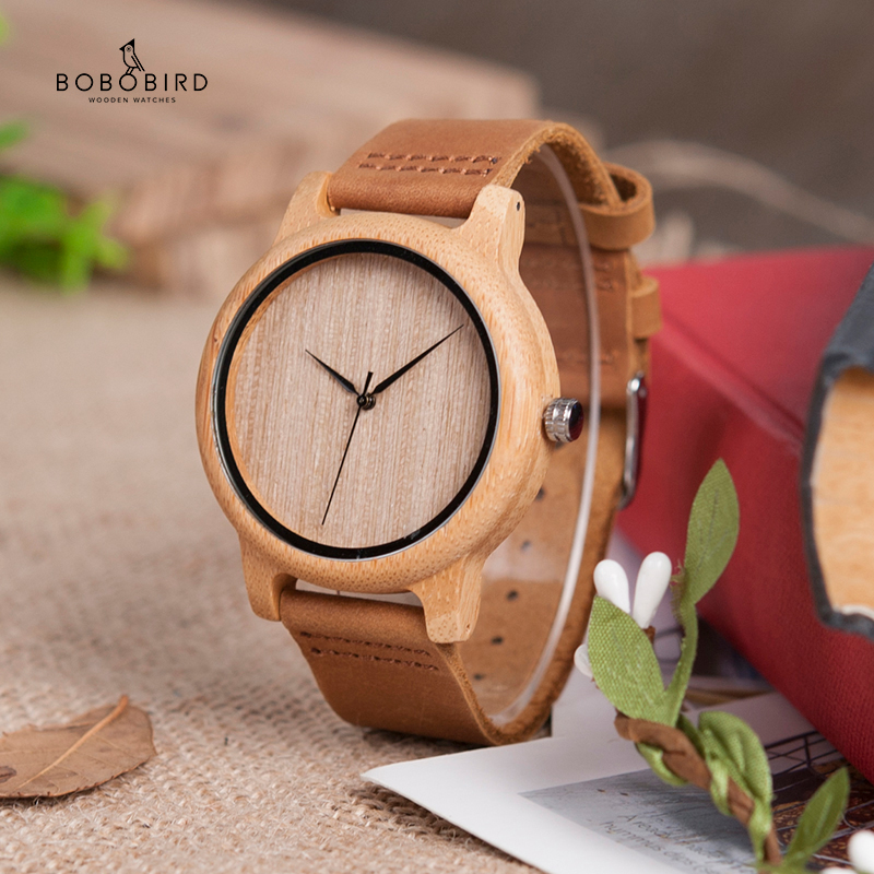 relogio masculino BOBO BIRD Timepieces Men Watch Bamboo Wooden Watches for Men and Women title=
