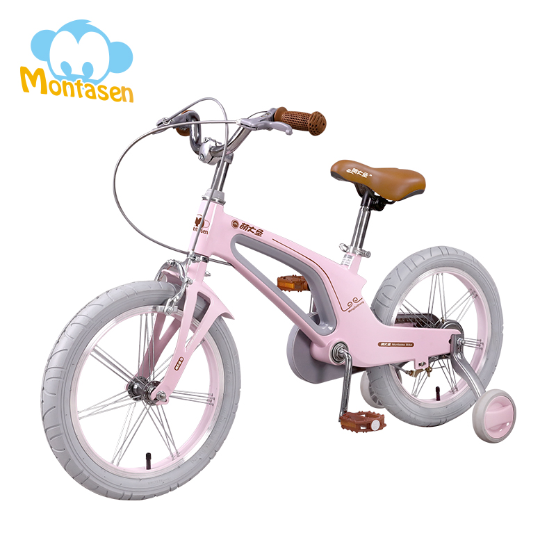 14 16 Inch Children's Balance Bike Magnesium Alloy Lightweight Cycle Detachable Auxiliary Wheel Bike for Kids Bicycle with Gift title=