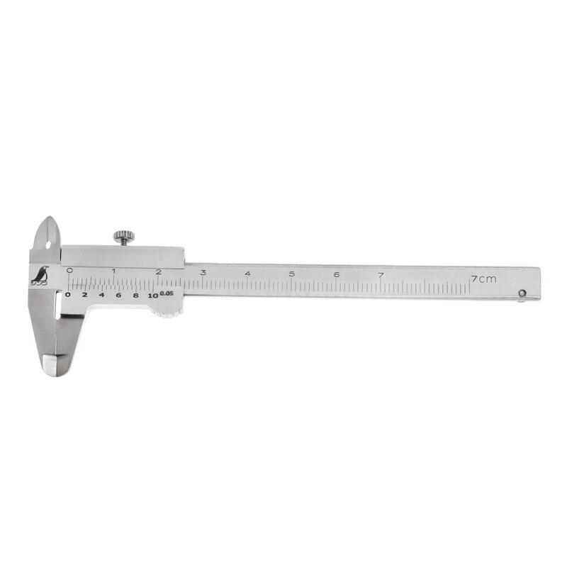 BELTI Mini calibrador Vernier 0-70 mm Calibre de Bolsillo Mecanista m/étrico endurecido Inoxidable