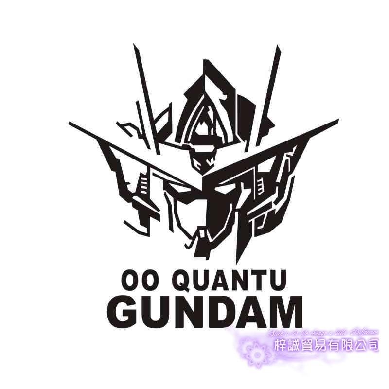 Pegatina GUNDAM Sticker Anime Cartoon Car Decal Sticker 00 Quantu Vinyl Wall Stickers  Decor Home Decoration