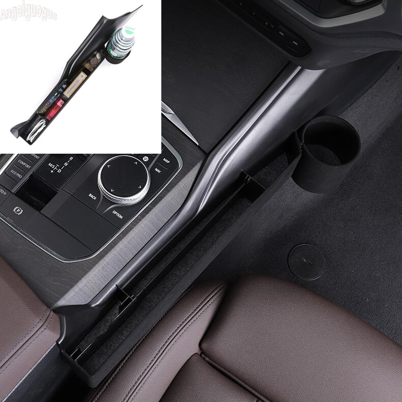 For BMW 3 Series G20 G28 2019-21 accessories Car Seat Slit Gap Pocket Storage Glove Box Organizer Slot Phone card coin cup Boxes