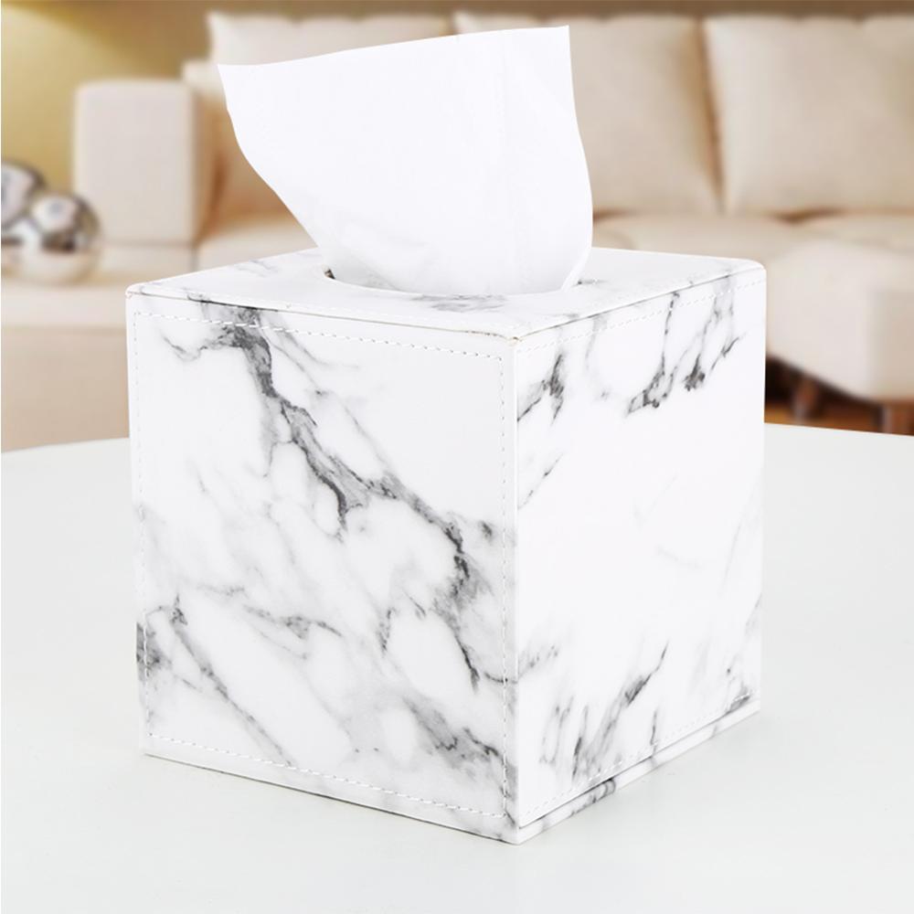 Square Stainless Steel Tissue Box Home Toilet Paper Napkin Holder Organizer
