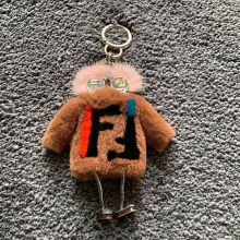Fur Keychain Car-Pendant-Ornaments Fur-Ball-Bag Monster Cute Robot Mink-Hair Rex-Rabbit-Dress