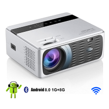 Mini Projector Led Beamer Home Cinema Android Full-Hd USB for PR49002 1080P Mirroring