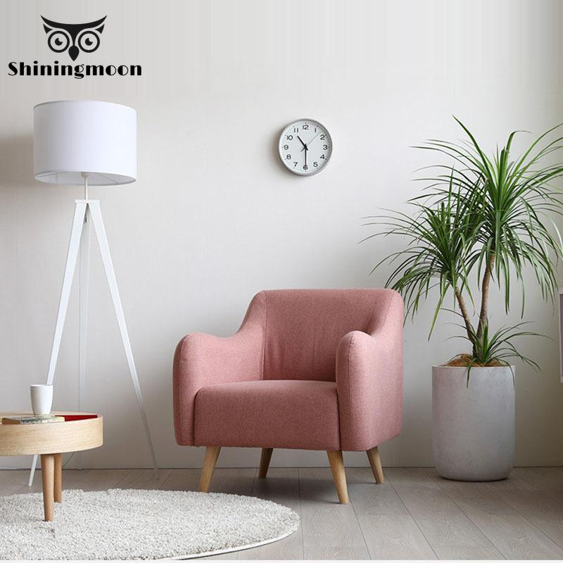 Modern Solid Wood Pink Chair Hotel Sofa Chairs Cafe Nordic Fabric Chair Bedroom Study Furniture Chair Armchair Restaurant Chairs title=
