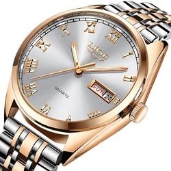 Часы женские кварцевые, золотистые, из нержавеющей стали