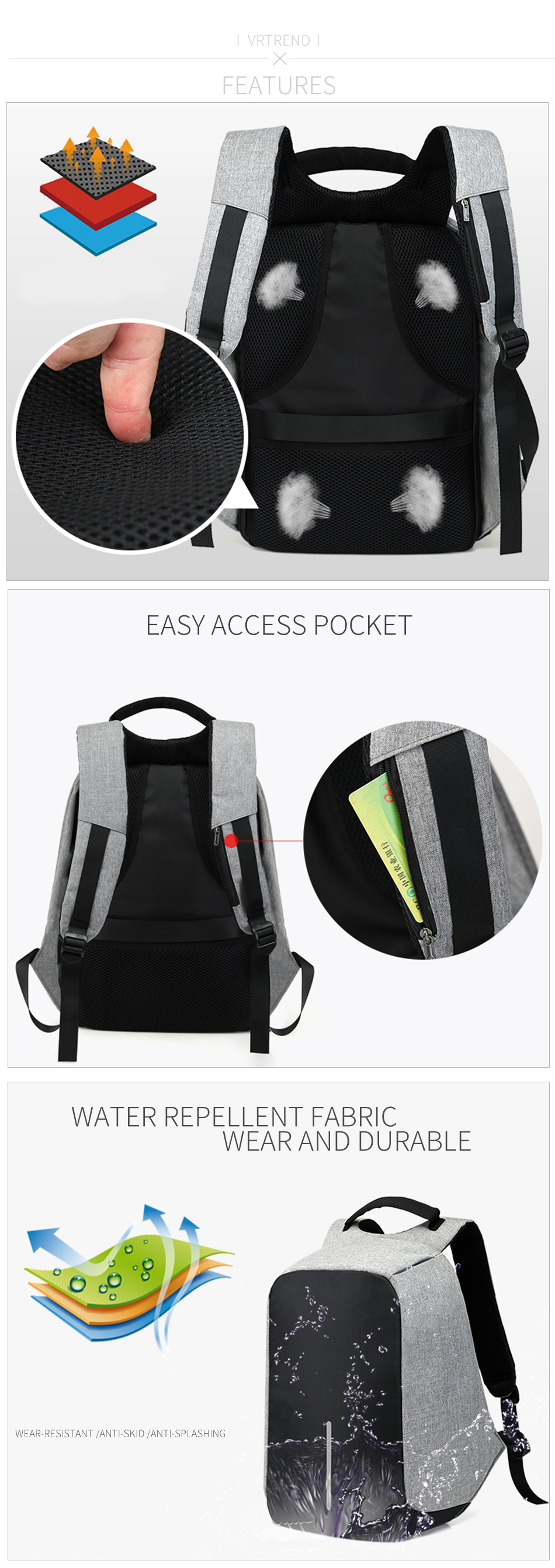 Anti Theft Backpack 6
