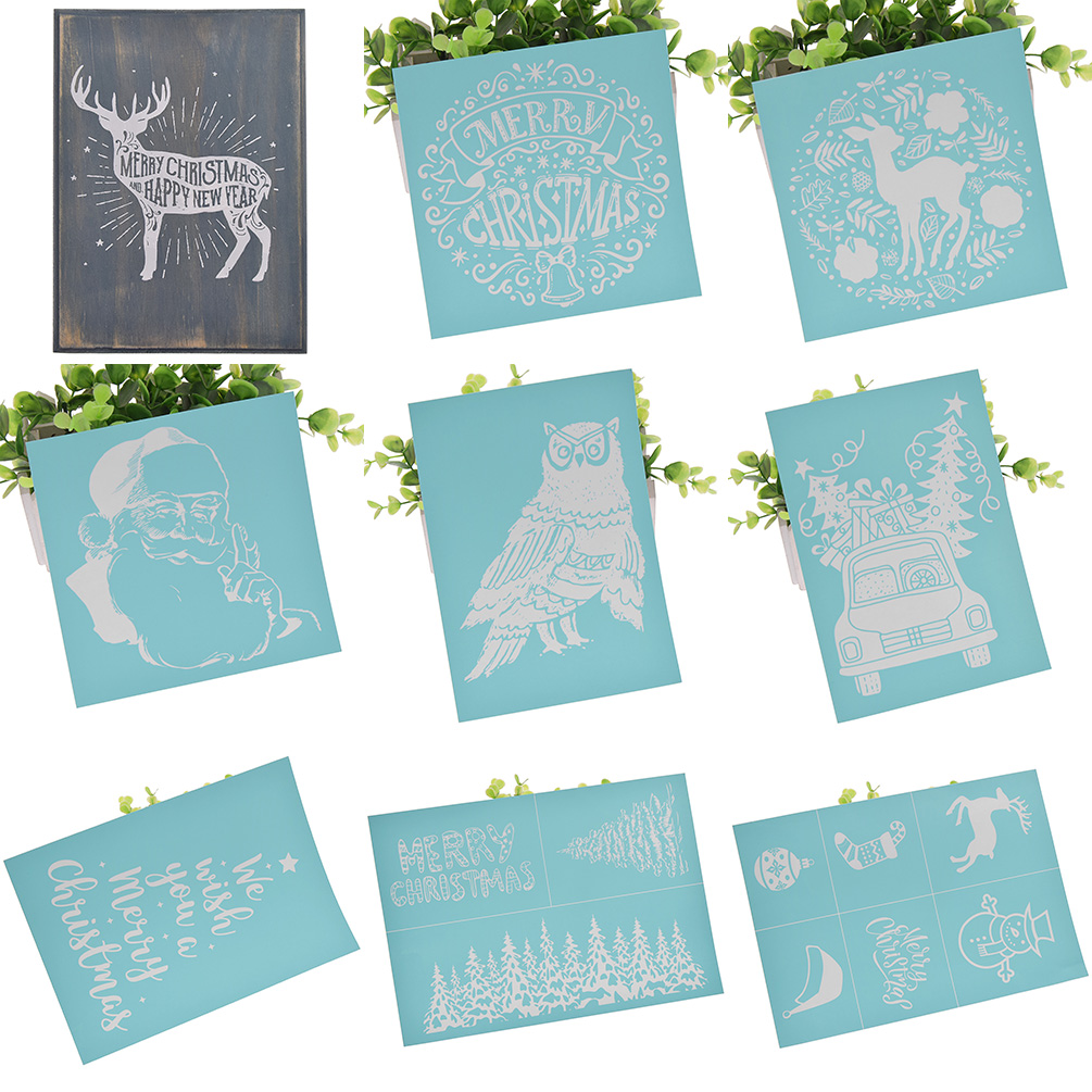 Paper CHZIMADE Christmas Theme Self-Adhesive Silk Screen Stencil Printing Mesh Transfers for Bag and Home Decoration T-Shirts