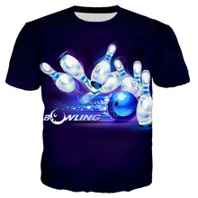 3D Printed t-Shirts Bowling Tops Casual-Style New-Fashion Cool Men/women