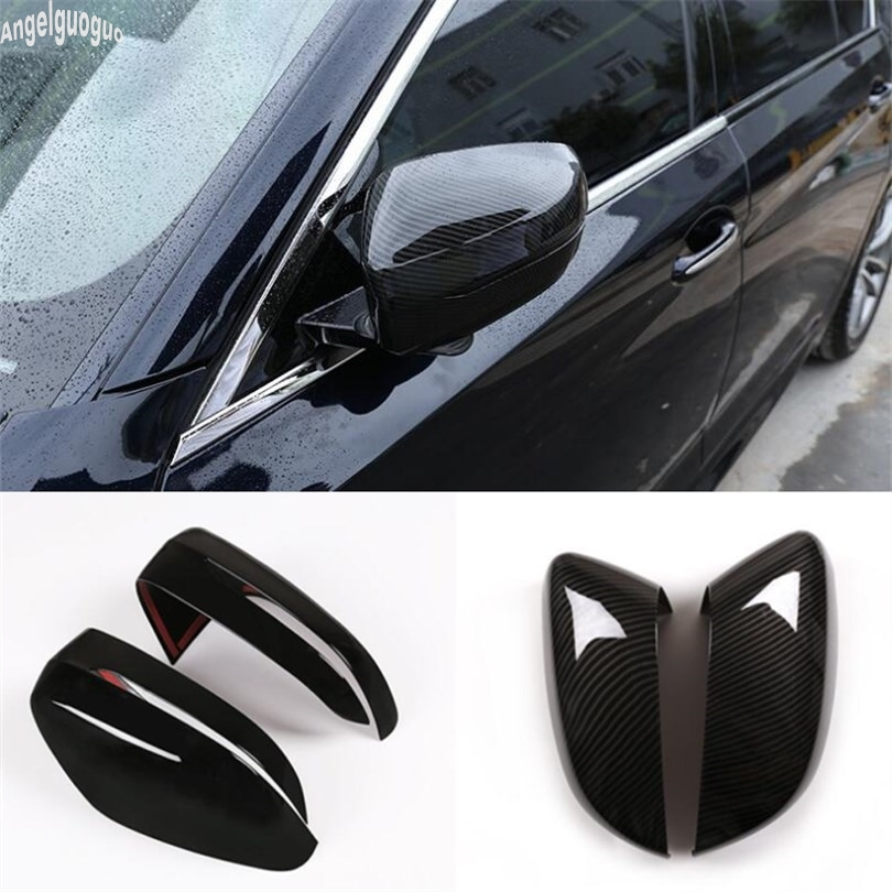 ABS Carbon fiber or piano black For BMW 5 series G30 3 series G20 Car Rearview Mirror Trim Decoration Shell Protection Cover LHD