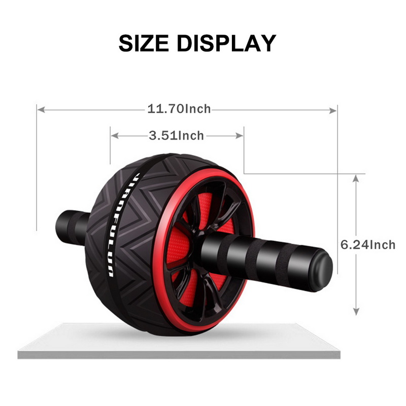 Machine - Best Large Silent Abdominal Wheel Roller Trainer Fitness Equipment Gym Indoor Home Exercise Body Building ABS Roller
