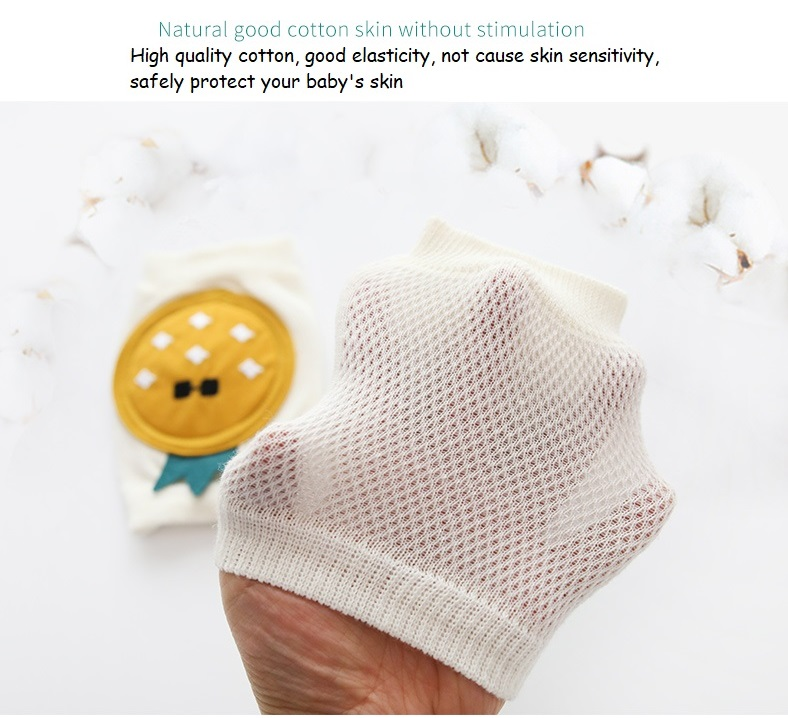 Baby Knee Pads Adjustable Breathable Anti Slip Knee Pads for Crawling Elbow Knee Protective Pad for Infant 1Pair Pineapple Style