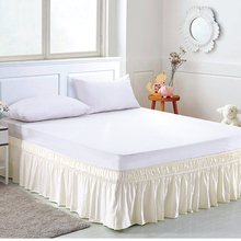 Bed-Skirt Spread-Wrap Ruffles Elastic-Band Around Solid Easy-Fit Quality-Fabric Fade-Resistant