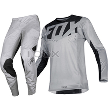 Pants Jersey Grey-Suit Race-Gear-Set Off-Road-Scooter Motorbike MX Troy Fox 360-Kila