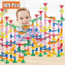 Building-Blocks Ball Track-Pipe Circuit-Marble Educational-Toys Race-Run DIY for Children