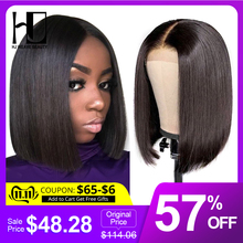 Straight Bob Hair-Lace-Wig Short Weave Beauty HJ Lace-Front Pre-Plucked 13x6 Baby Brazilian