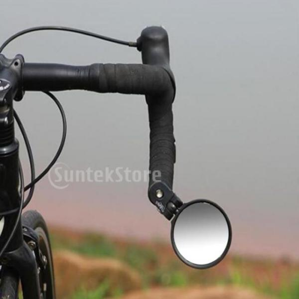 Mini Rotaty Handlebar Glass Rear view Mirror for Road Bike Bicycle US