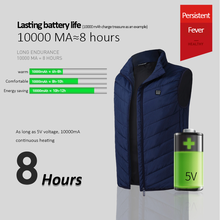 Heated Vest Washable Usb Charging Electric Heating Warm Jacket Control Temperature Outdoor Camping Hiking Warm Hunting Jacket