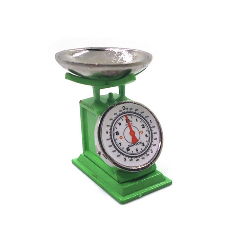 Red Miniature 1:12 Scale Weight Scale Dollhouse Kitchen Accessories Market Stall