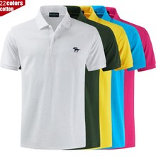 Tee Polo-Shirt Short-Sleeve Casual Color-Brand Tops High-Quality Men's New-Arrival