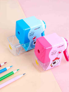 Pencil Sharpener Mechanical-Accessory Hand-Crank School-Supply Muji-Print Creative Japanese-Style
