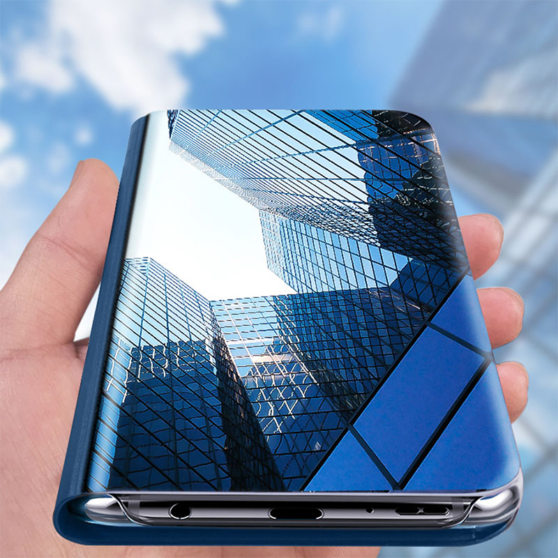 Smart Mirror View Flip Case For Samsung A51 A71 Case Luxury Clear Cover For Samsung Galaxy A81 A70S A91 M30S M40S M60S M80S Case