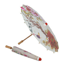 Oil-Paper Umbrella Parasol Decorative Japanese Classical Women's Bamboo Silk-Cloth Poney