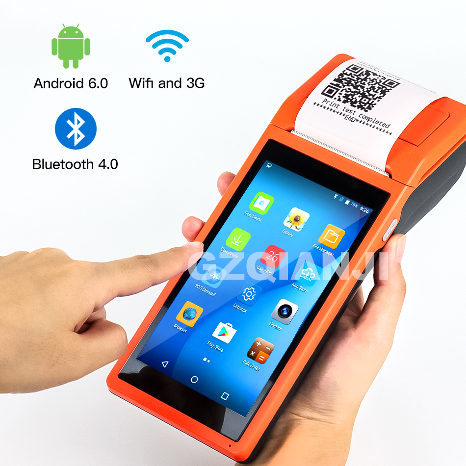 Rugged Scanner-Reader-Printer Terminal-Systems Barcode Bluetooth Wifi Thermal-Receipt title=