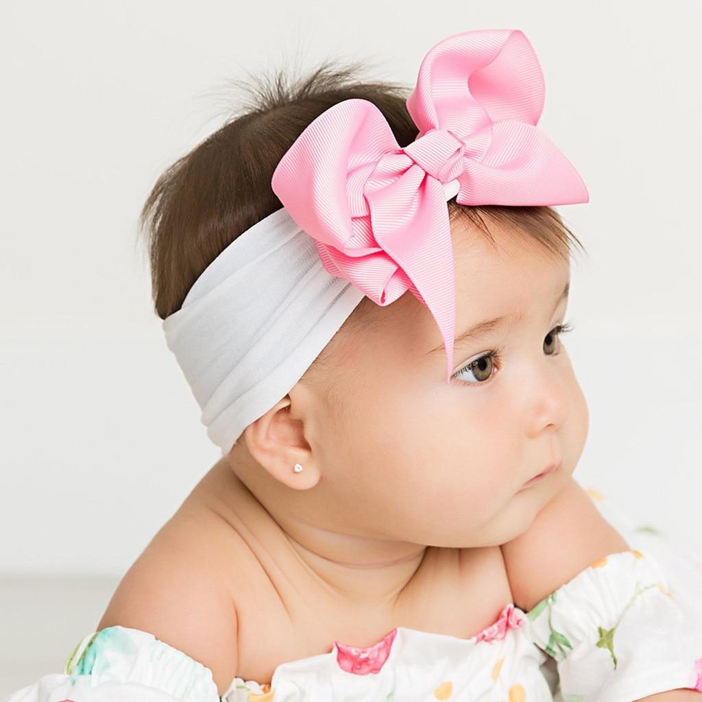 Brand New Newborn Toddler Baby Girls Head Child baby girl bow hair jewelry headband Turban Hair Accessories Baby Gifts