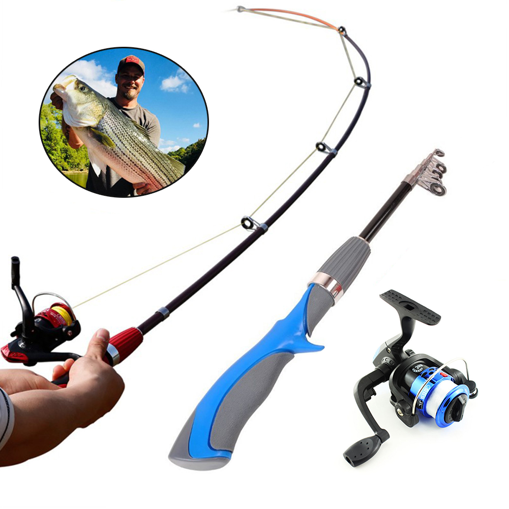 Rod Fishing-Rod Spinning-Reels Carbon Ultra-Light Mini Reel-Set And  title=