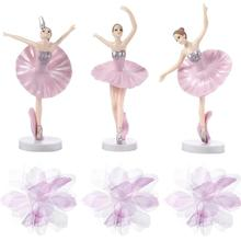 Cupcake Toppers Ballerina-Cake-Decorations Adornment-Set Girl 6pcs Dancing Beautiful