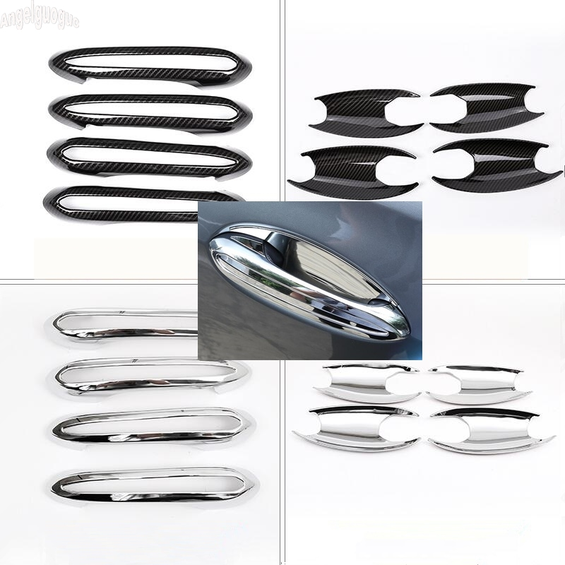 ABS chrome/carbon style For BMW 3series G20 X5 G05 Car Door Handle Decoration Trim Cover Sticker Protection Upgrade Accessories